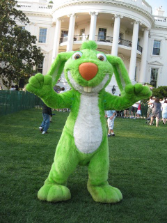 Big Green Rabbit at the White House